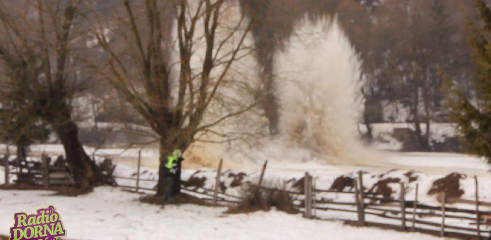 inundatii vatra dornei dinamitare raul dorna bistrita